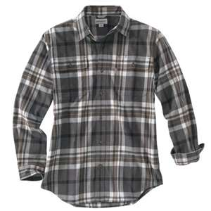 Carhartt Men's Hubbard Classic Plaid Long Sleeve Shirt