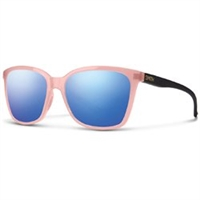 Smith Optics Colette Sunglasses - Blush Matte Black - Carbonic Blue Flash