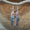 Down 2 Earth Hip Feather Dangle Earrings