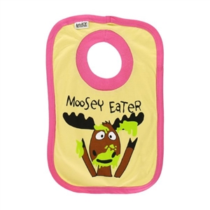 Lazy One Infant Moosey Eater Girl Bib