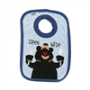 Lazy One Infant Open Wide Bear Blue Bib