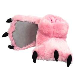 Lazy One Pink Bear Paw Slippers