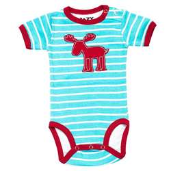 Lazy One Boy's Infant Stripe Moose Kreeper