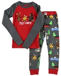 Lazy One Kid's Hppy Camper PJ Set