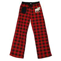 Lazy One Moose Plaid Applique Fitted PJ Pant