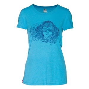 Meridian Line Women's Birdbabe Waves Triblend T-shirt