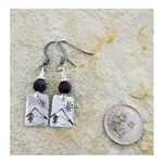 Down To Earth Idaho Mountains Dangle Earrings