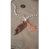 Down To Earth Idaho Necklace with Feather and Crystal