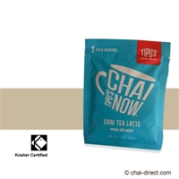 Tipu's: ChaiNow Packets - Masala Chai Tea Latte Dry Mix - 5 Serving Box (8 oz cups)