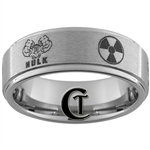 8mm One Step Pipe Tungsten Carbide Custom Ring Design