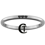 2mm Dome Tungsten Legend of Zelda 8-Bit Hearts Design Ring.