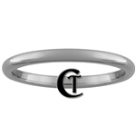 2mm Dome Tungsten Carbide Traditional Wedding Ring.