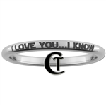 2mm Dome Tungsten Carbide Star Wars-  I LOVE YOU...I KNOW Design