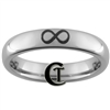 4mm Dome Tungsten Carbide Infinity Knot Design Ring.