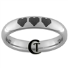4mm Tungsten Carbide 8-Bit Hearts Laser Design Ring.