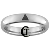 4mm Dome Tungsten Legend of Zelda Triforce Design Ring.