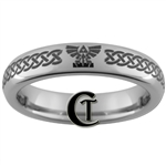 4mm Domed Tungsten Legend of Zelda Skyward Sword Design Ring.