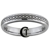 4mm Polished Tungsten Celtic Knot Design Ring.