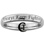 4mm Dome Tungsten Carbide Supernatural- Always Keep Fighting Design Ring.