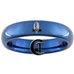 4mm Blue Dome Tungsten Carbide Borg Collective Design Ring.