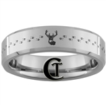 6mm Beveled Tungsten Carbide Deer Hunting Design Ring.