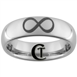 6mm Dome Tungsten Carbide Infinity Knot Design Ring.