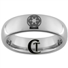 6mm Dome Tungsten Carbide Star Wars Galactic Empire Ring Design.