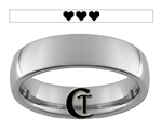 6mm Dome Tungsten Legend of Zelda Multiple 8-Bit Hearts Ring.