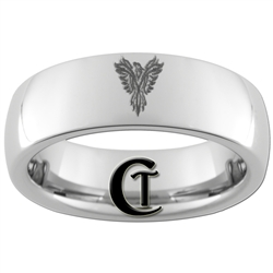 6mm Dome Tungsten Carbide Phoenix Design Ring.