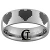 6mm Dome Tungsten Legend of Zelda Multiple 8-Bit Hearts Designed Polished Ring