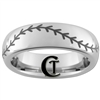 6mm Dome Tungsten Carbide Baseball Stitch Design.
