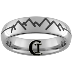 6mm Dome Tungsten Carbide Mountains Design.