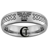 6mm Dome Tungsten Legend of Zelda Skyward Sword Celtic Knot Ring.