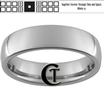 6mm Dome Tungsten Carbide Doctor Who Tardis Design With Saying On Back