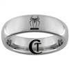 6mm Dome Tungsten Carbide Spiderman Design