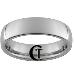 6mm Dome Tungsten Carbide Ring.