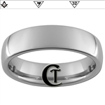 6mm Dome Tungsten Carbide Masonic Design