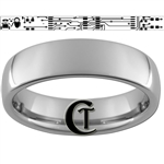 6mm Dome Tungsten Carbide Wall-E Eva Design Ring.