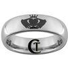 6mm Dome Tungsten Carbide Claddagh Celtic Design Ring.