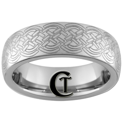 6mm Dome Tungsten Carbide Celtic Design