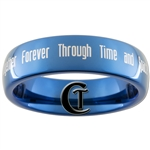 6mm Blue Dome Tungsten Carbide Doctor Who Gallifreyan and Quote Design Ring.