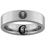6mm Pipe Tungsten Carbide Star Wars Jedi Design