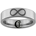 6mm Pipe Tungsten Carbide Infinity Knot Design Ring.