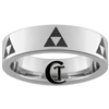 6mm Pipe Tungsten Legend of Zelda Multiple Triforce Design Ring.