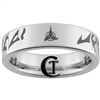 6mm Pipe Tungsten Carbide Klingon Empire Symbol with Klingon Text- Real Power Is In The Heart Design Ring.
