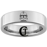6mm Pipe Tungsten Carbide Star Wars Clonetrooper Design