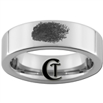 6mm Pipe Tungsten Carbide Fingerprint Design