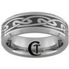7mm Beveled Tungsten Carbide Celtic Design