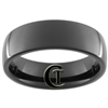 7mm Black Dome Tungsten Carbide Ring