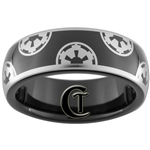 7mm Black Dome Tungsten Carbide Star Wars Galactic Empire Design